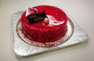 豹柄どピンクケーキ